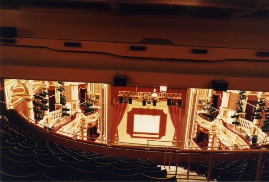 View from the upper circle, King's Theatre, Glasgow, 1993 ...